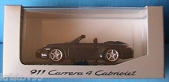 PORSCHE 911 997 CARRERA 4 CABRIOLET 2005 MINICHAMPS 1 43 BLEU DUNKELbleu METAL