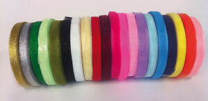 50-Yard-46-mtr-Roll-Of-Sheer-Organza-Ribbon-6-amp-10mm-width-Many-Colours