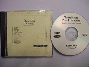SHOLA-AMA-In-Return-1999-UK-CD-Post-Production-Promo-RnB-Swing-V-RARE