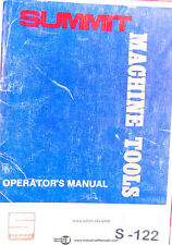 Summit 19 4 And Super 20 Lathe Operations And Parts Manual Year 1980