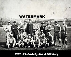 MLB-1905-Philadelphia-Athletics-Black-amp-White-Team-Pic-8-X-10-Photo-Picture