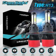 H13 9008 Led Headlight Bulbs Kit Cree For Ford F150 2004 2014 Highamplow Beam 6k Fits Mustang