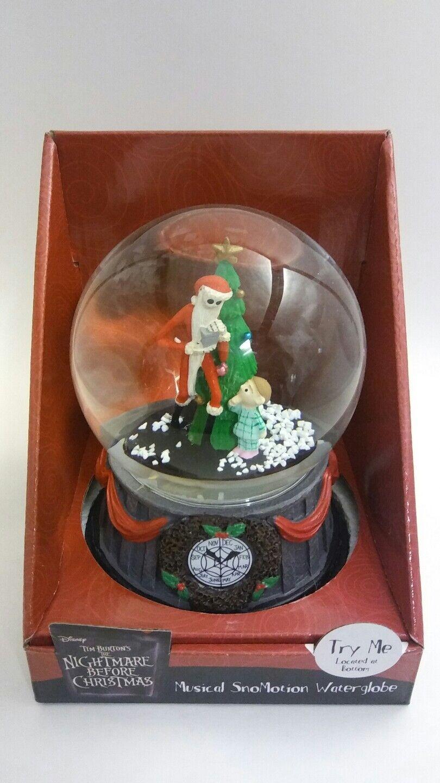 THE NIGHTMARE BEFORE CHRISTMAS MUSICAL SNOW GLOBE JACK SKELLINGTON ...