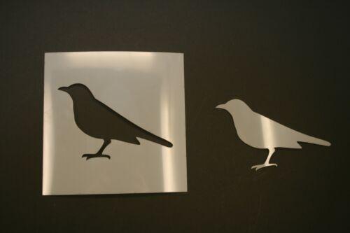 Art Supplies Crow Reusable Mylar Stencil