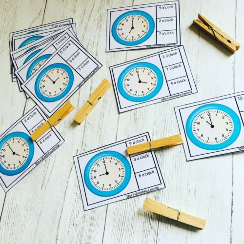 SEN TEACHING RESOURCE TELLING THE TIME By The Hour Peg Activity Cards