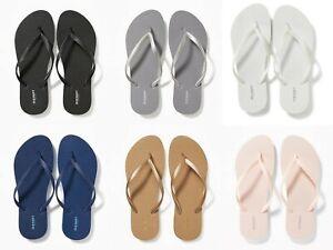 NEW Old Navy Classic Flip Flops Women Black Blue Gold Pink Silver 6 7 8 9 10 11