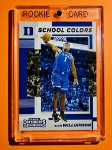 Zion-Williamson-ROOKIE-PANINI-CONTENDERS-DUKE-SCHOOL-COLORS-RC-1-Mint