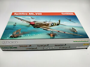 Maquette-a-monter-Avion-Spitfire-MK-VIII-echelle-1-72-Eduard-Profipack-edition
