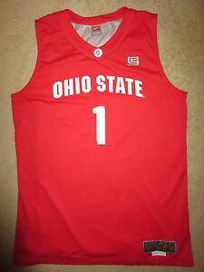 big sale 64653 fc1cb Details about Ohio State Buckeyes #1 Basketball Nike Team Lebron James  Jersey XL