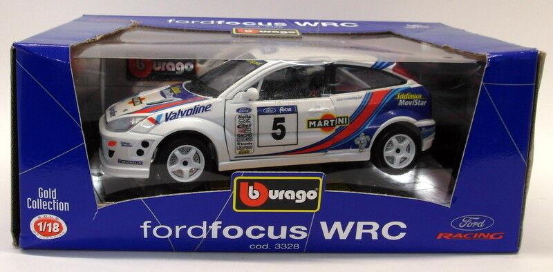 BURAGO 1 18 SCALA DIECAST 3328 FORD FOCUS WRC MARTINI modello di auto da rally