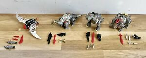 Vintage Lot of 4 Transformers G1 Dinobots - SLUDGE SLAG GRIMLOCK SWOOP w/Weapons