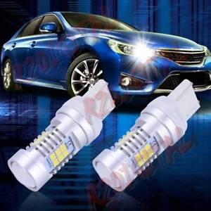 COPPIA-LAMPADE-LED-T20-DACIA-DUSTER-6000K-BIANCO-PURO-21-SMD-POSIZIONE-AUTO-STOP