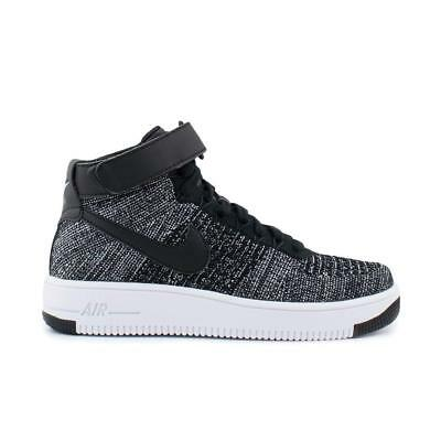 Junior NIKE AF1 ULTRA FLYKNIT MID Black Trainers 862824 001 | eBay