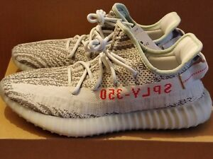 new product 682a2 ff01b Details about ADIDAS YEEZY BOOST 350 V2 BLUE TINT GREY & RED UK 7 8.5 10 =  US 7.5 9 10.5 BNIB