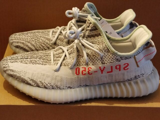 ADIDAS YEEZY BOOST 350 V2 BLUE TINT GREY & RED UK 7 8.5 10 = US