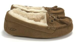 c7d3ce9e087 Details about Ugg Women's Litney Suede Women's Moccasin Slippers Chestnut  Size 6 NIB