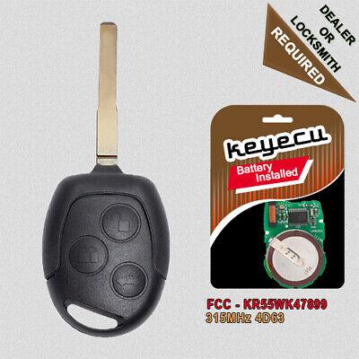 Car Key Fob Keyless Entry Remote fits 2012-2016 Ford Escape 2011-2016 Fiesta KR55WK47899, 267T-5WK47899