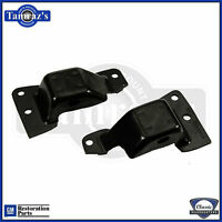 69-70 Sb 302/350 Engine Frame Mounts Gm Resto Part W/ Numbers Thickness