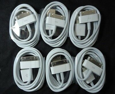 6 x USB Sync Data Charging Charger Cable Cord for 4 4S 4G 4th IPOD
