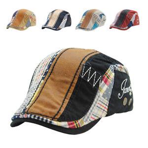 76ec364b Image is loading Cotton-Washed-Beret-Hat-Buckle-Adjustable-Paper-Newsboy-