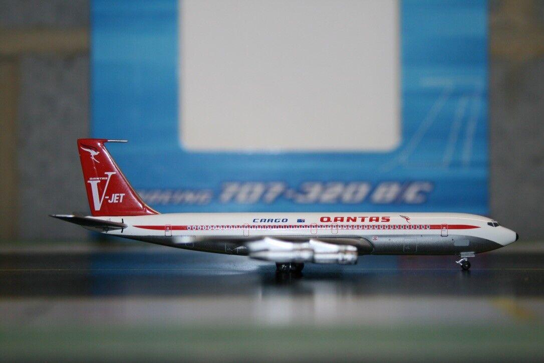 Aeroklassics 1 400 Qantas bilgo Boeing 707 -300F N7099 (ACN7099) modelllllerlerl plan