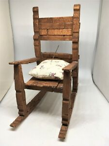Astounding Details About Vintage Wood Clothespin Rocking Chair Pincushion Folk Art Squirreltailoven Fun Painted Chair Ideas Images Squirreltailovenorg