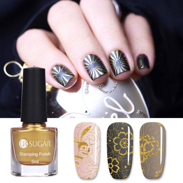 6ml Nail Stamping Polish Gold Plate Printing Varnish Manicure Nail ...