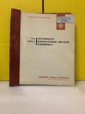 General Radio 1680 A Automatic Capacitance Bridge Assembly Instruction Manual