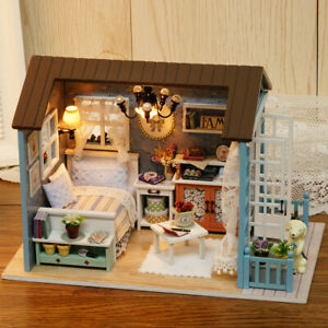 DIY-Miniature-Dollhouse-Kit-Realistic-Mini-3D-Wooden-House-Room-Craft-with-G4L1