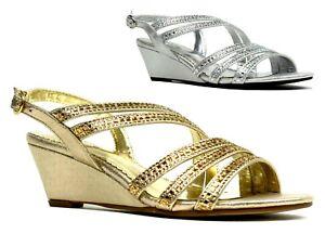 New Ladies Women Summer Wear Stone Strappy Open Toe Comfort Sandals UK Size 3-9
