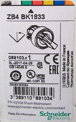 Schneider Telemecanique ZB4BG2 Selector Switch Operator 22mm 2 Pos *BRAND NEW*