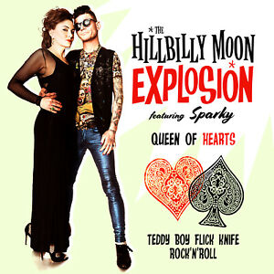 Hillbilly-Moon-Explosion-039-Queen-of-Hearts-039-7-034-ft-Sparky-Phillips-ltd-red-vinyl