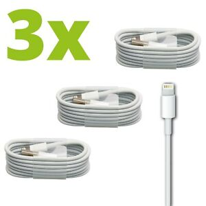 3x-iPhone-Ladekabel-Lightning-USB-Kabel-1m-5-6-7-8-X-XS-XR-11-12-Pro-fuer-Apple