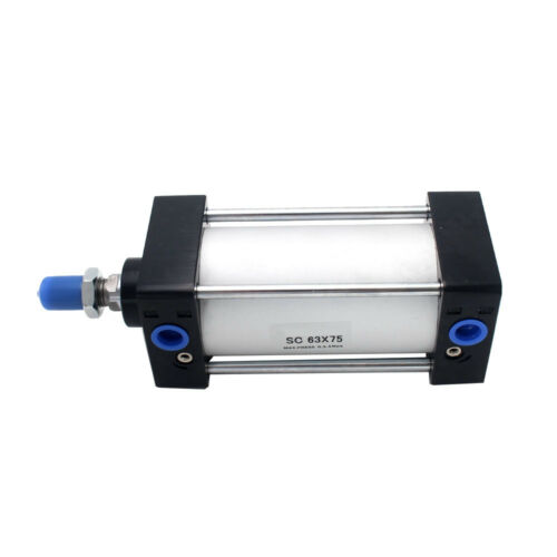 SC63x75 63mm Bore 75mm Stroke Single Rod Double Action Pneumatic Air Cylinder