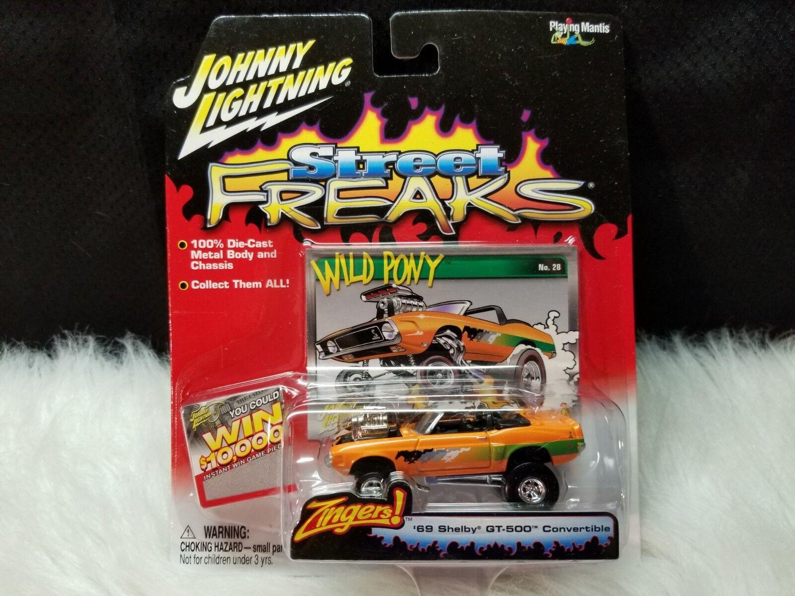 Johnny Lightning Street Freaks 1 64 escala mordaces'69 Shelby GT-500 Converdeible