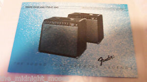 Fender-Yale-Harvard-II-Amplifier-Owner-039-s-manual-1982-excellent