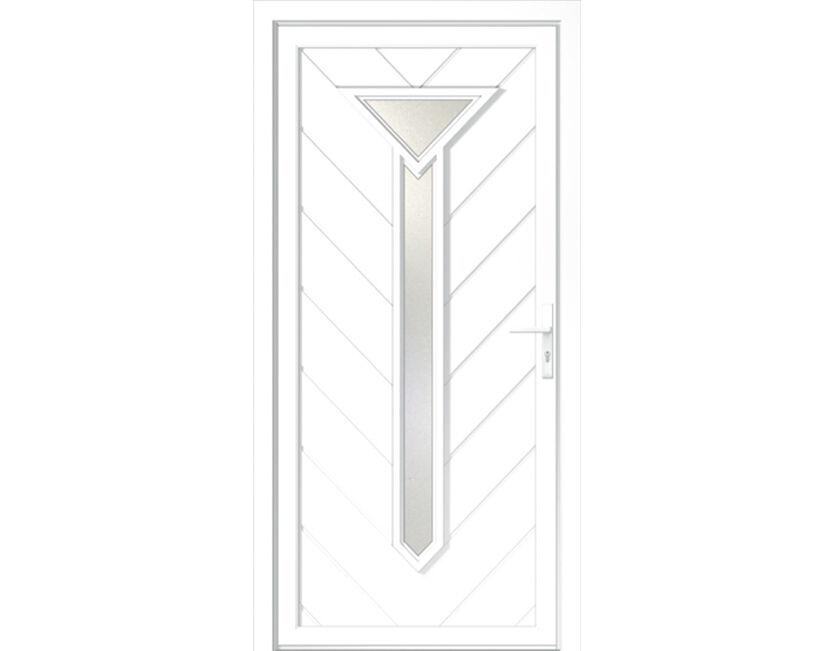 Kunststoff Haustür Haustüren Anraff Türen Tür Eingangstür weiß NEU