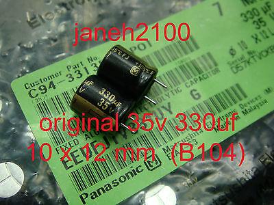 10pcs Panasonic 35V 330UF radial  electrolytic capacitors 10X12mm B104