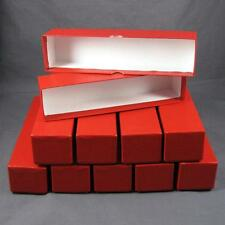 50 Red Storage Boxes for 2x2 Coin Holders and Flips (2x2x9) Single Row