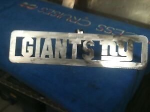 Plasma Cut NY Giants Plaque metal Sign mancave Garage//Wall Decor