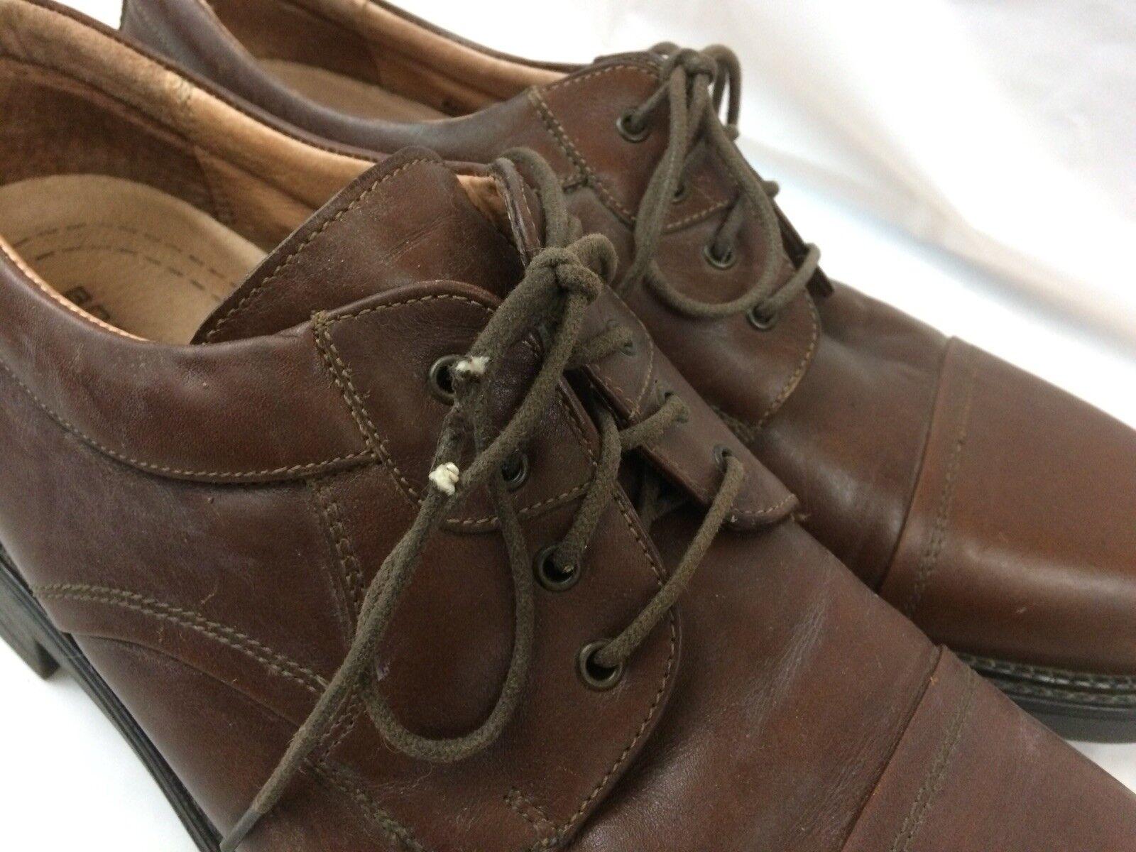 Bostonian Strada MEN 10.5 M Cap Toe Toe Toe braun Leather 22712 Oxford schuhe Dress Formal 7cb63d