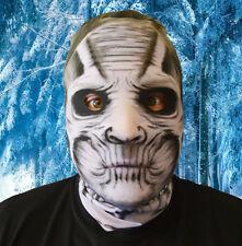 3D Efecto Cara Piel Lycra Tela De Demonio de Hielo Cara Máscara Halloween Horror