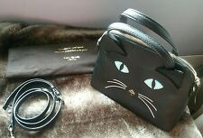 Final! Authentic Kate Spade Rare Cat's Meow Leather Satchel, Dust Bag & Gift