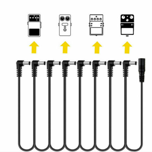 8-Way Power Cord Cable For MC5 MC8 9 Volt Daisy Chain Fit Boss Line 6 MXR Pedals