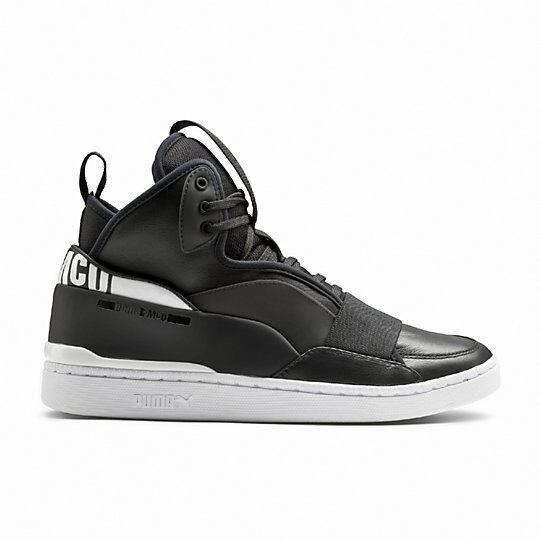 New Mens Puma X McQ Brace Mid Shoe Style 361477-03 Black/Black/White W15 rr