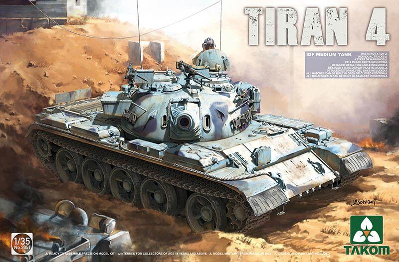 Takom 1/35 Tiran 4 Idf Carro Armato Medio #02051