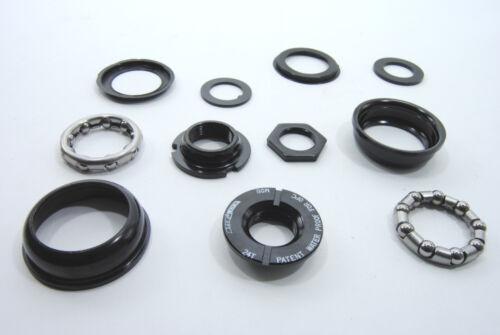 Black Ops Bottom Bracket Complete Set-for one piece crank-24 T.P.I-Black