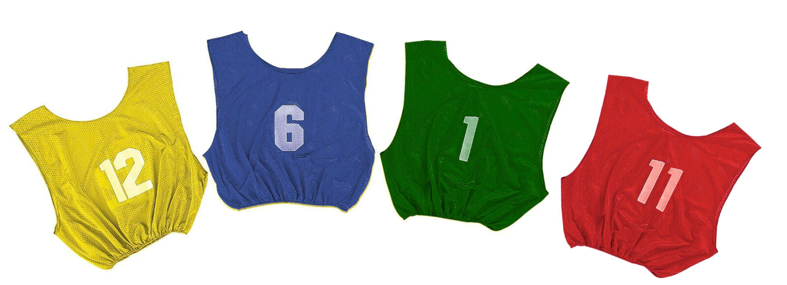 Champion Dozen Youth All Sport w  Numbers 1-12 PINNIES Scrimmage Vests 4 colors