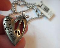 18 Silver Pewter Bead Chain Texas A&m University Aggies Atm 28x21mm Heart Charm