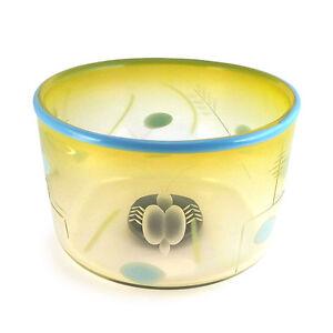 Vintage-Warff-Ritzman-Carlsson-W-R-C-Transjo-Swedish-Art-Glass-Centerpiece-Bowl